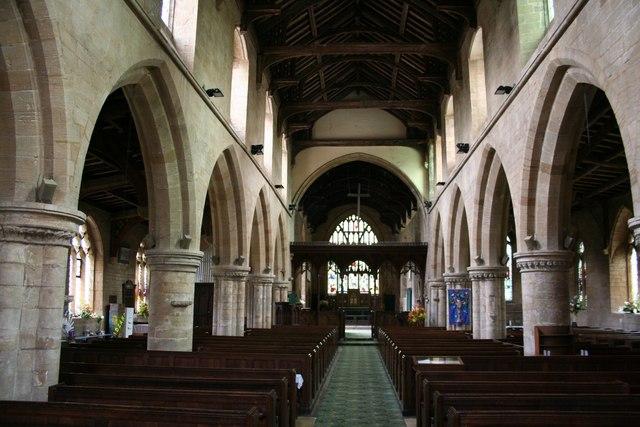 All Saints' church nave