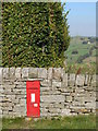 NY7956 : Victorian postbox in Keenley by Mike Quinn
