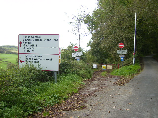 Access road to part of the Kirkcudbright Training Area (MoD)