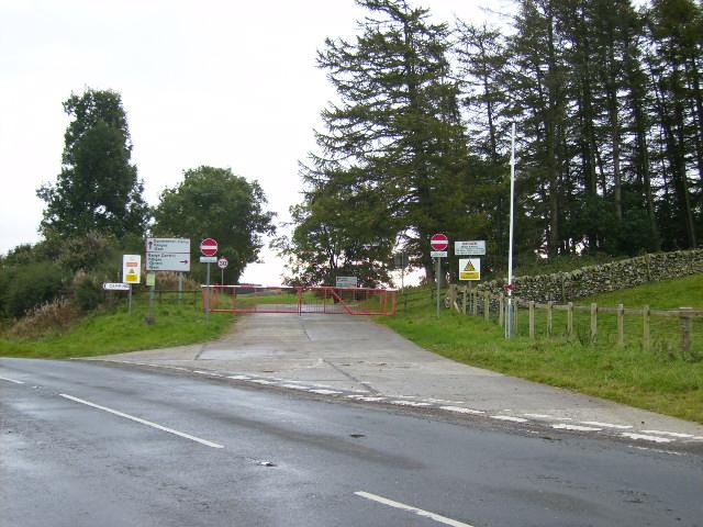 Danger area entrance
