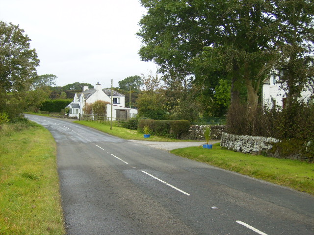 The A711 road west of Dundrennan