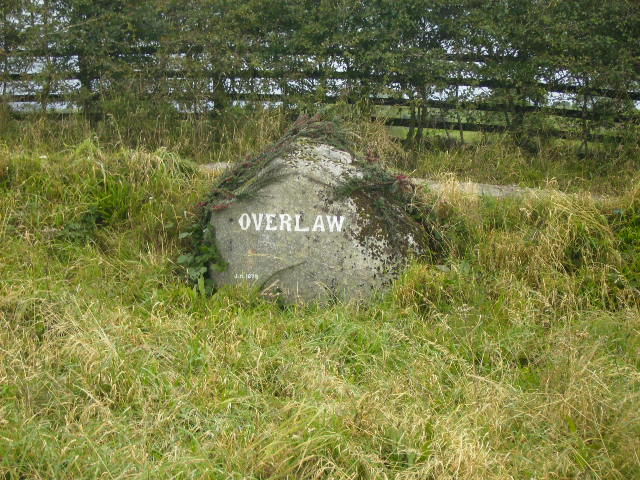 Name sign for Overlaw near Dundrennan