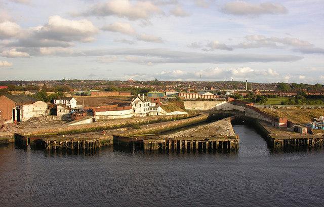 Former drydocks, South Shields