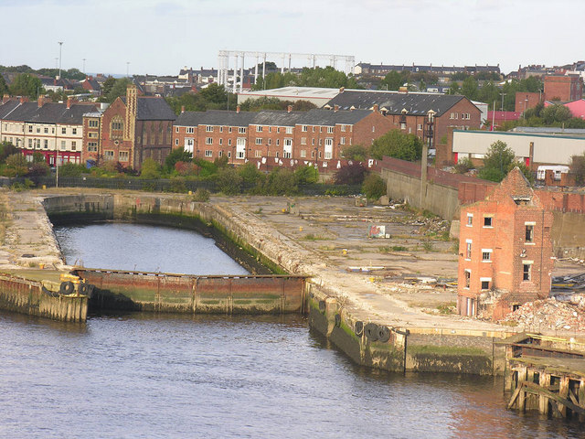 Former drydock, South Shields