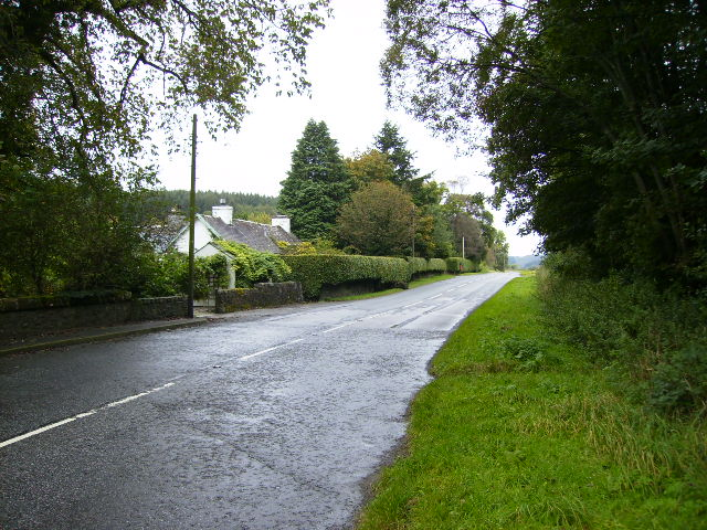 The A711 road at Screel