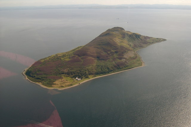 Holy Isle, Arran, from the air