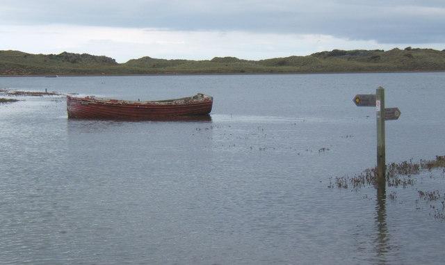 High tide, Esk estuary