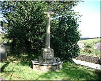 SX5548 : Newton Ferrers - War Memorial - Holy Cross Church. by Chris Talbot