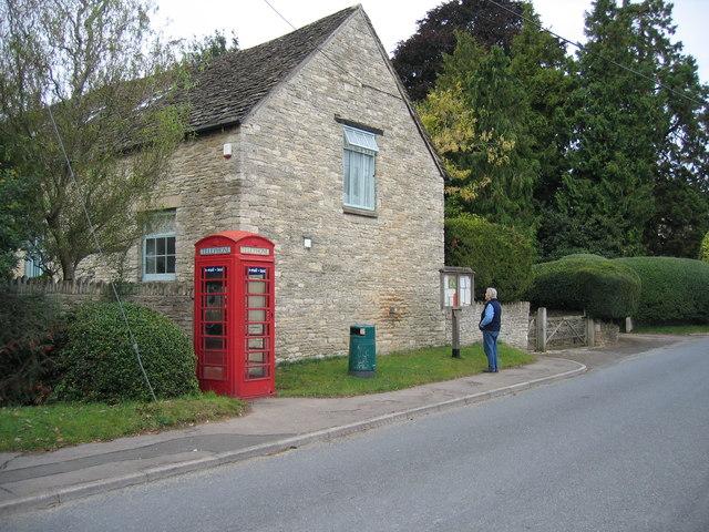 Telephone Box and Village Noticeboard Somerford Keynes
