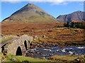 NG4829 : The old road bridge at Sligachan by John Allan