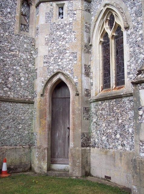 Priest's door at St Andrew's Church, Newton Tony