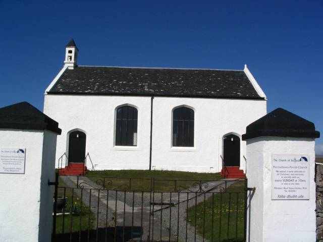 Church at the head of the harbour, Portnahaven