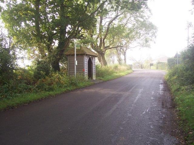 Bus stop at Warren Corner, Hampshire