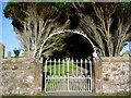 NY1138 : The Parish Church of St Mary, Gilcrux, Gate by Alexander P Kapp