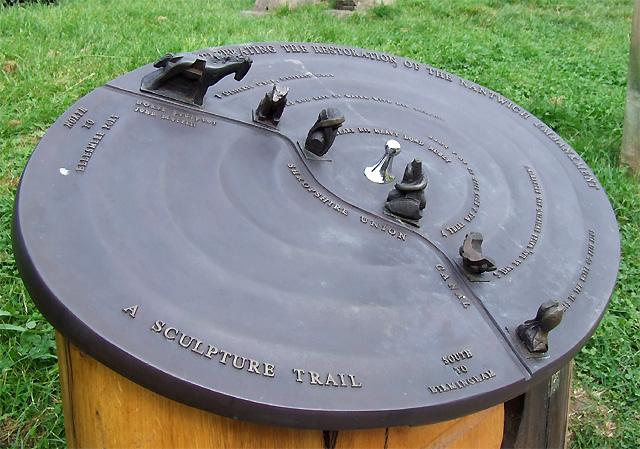 Sculpture Plaque, Shropshire Union Canal, Nantwich