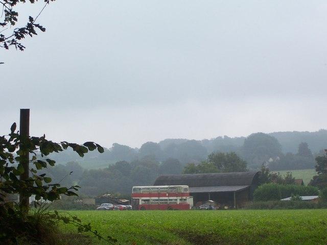 Blackmore Farm, Froxfield, with doubledecker