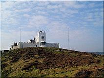 SH4793 : Point Lynas lighthouse by Steve  Fareham