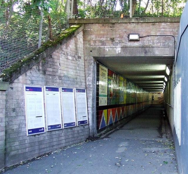 Hyndland railway station underpass