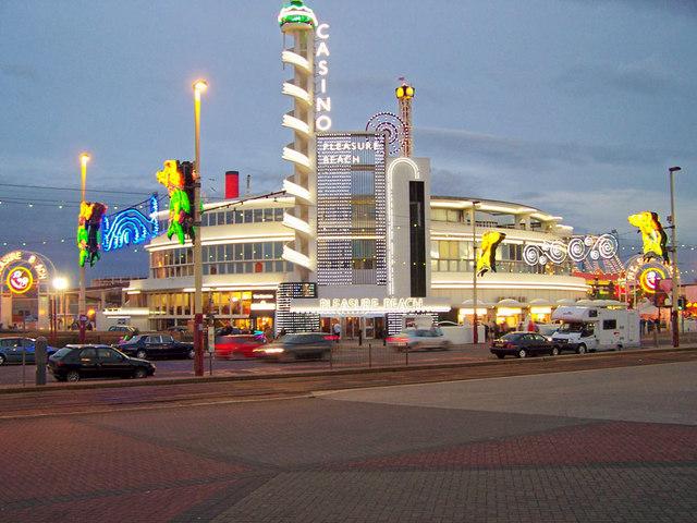 Art Deco entrance to Blackpool Pleasure Beach