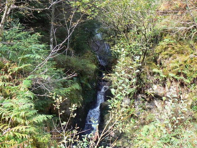 Waterfall above Ardentinny