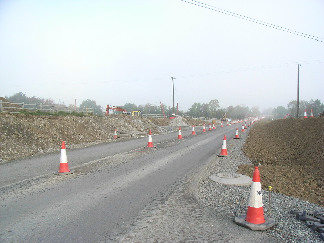 Roadworks at Balgill, Co. Meath