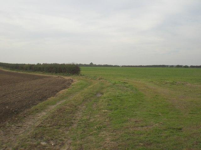 West across arable land near Cockthorpe