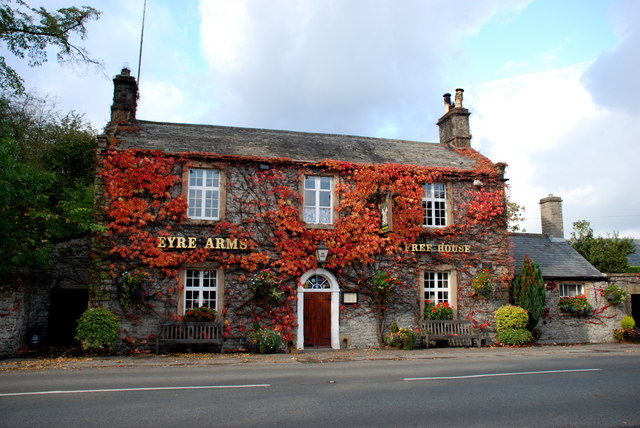 The Eyre Arms in autumn