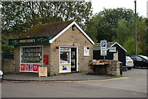 SK2572 : Baslow sweet shop by Roger Temple