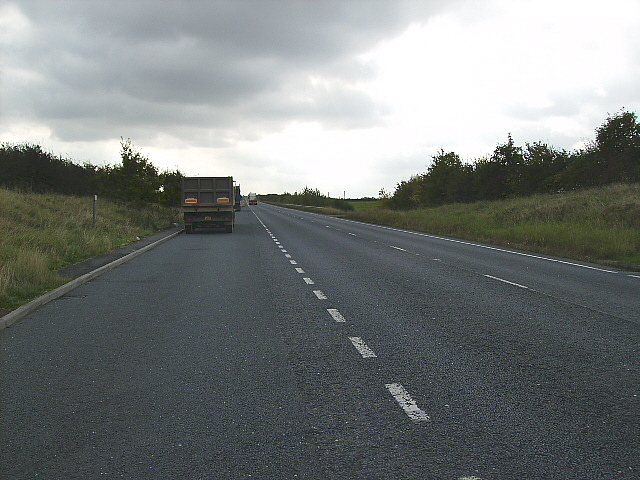 Lay-by on the A15 west of Hibaldstow