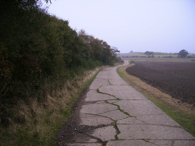 Concrete track south of Bell Farm at Colesden