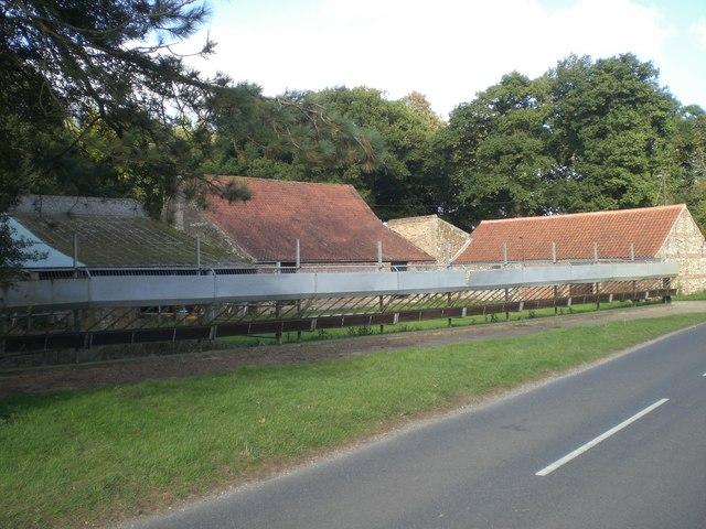 Barns and disused stockyard