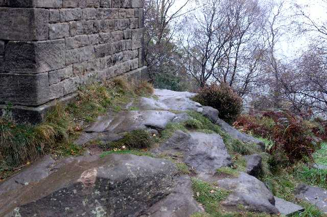 The base of the Tower on Stanton Moor
