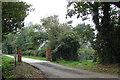TF7020 : Border Lane Farm Access by Robert Walden