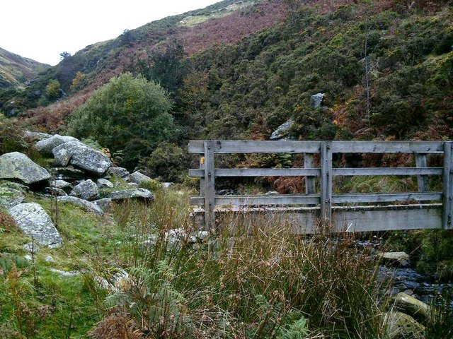 Footbridge at top of Cwm Llech
