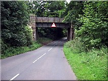 SP0173 : Railway bridge over Callow Hill Road in Alvechurch, Worcestershire. by Lee J Andrews