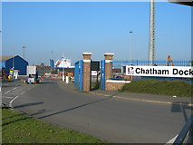 TQ7769 : Entrance to Chatham Docks by Danny P Robinson