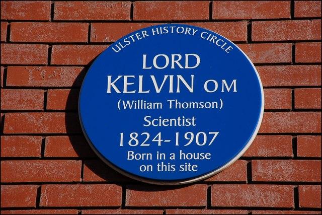 Kelvin plaque, Belfast
