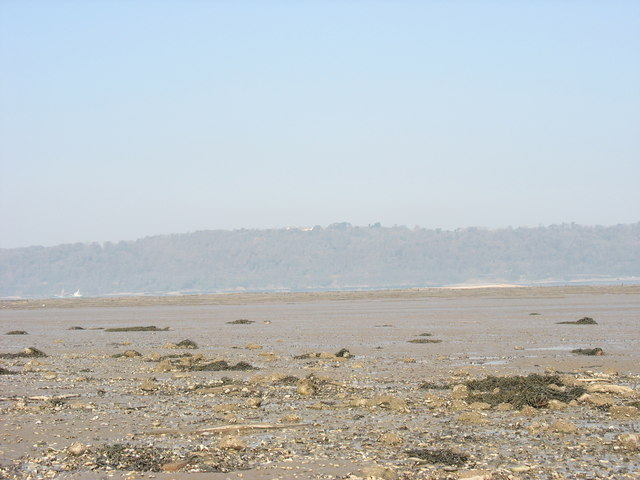 View across the Bangor Flats in the direction of Anglesey