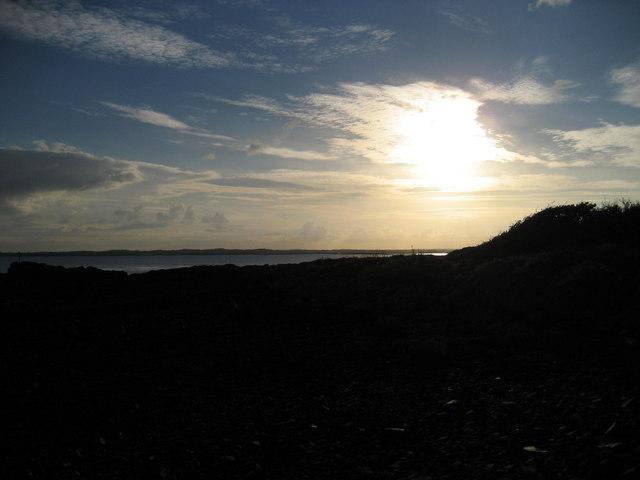 Sunset over Strangord Lough