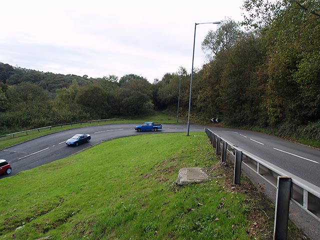 Hairpin bend on the A174
