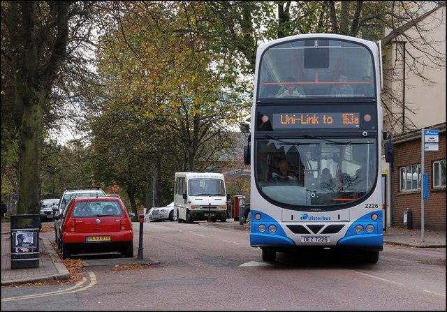 "The ""Uni-Link"" bus, Belfast © Albert Bridge :: Geograph Ireland"
