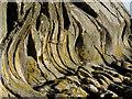 NX2650 : Undercut cliff at Rocks of Garheugh by David Baird