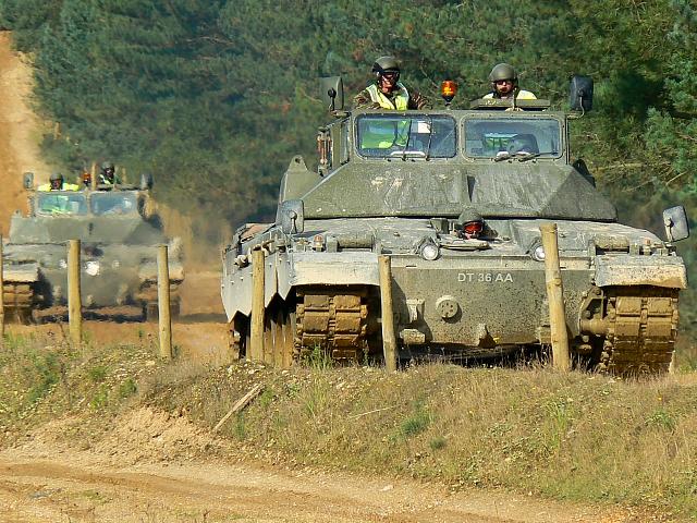 Modified tanks, Bovington training grounds, Dorset