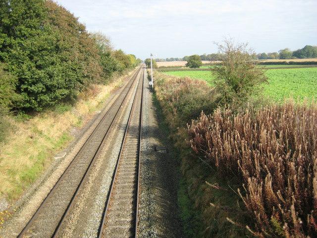 Straight tracks in Shropshire