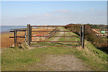 TA0623 : Gate on Humber Bank Footpath by David Wright