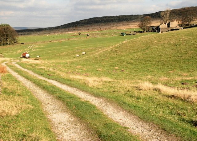 The track to Stanage House