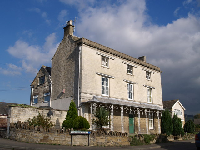 Eighteenth century house on Burford Drive, Stroud