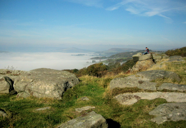 Millstone Edge above the fog