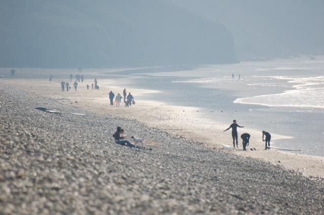 Newgale beach and shingle bank