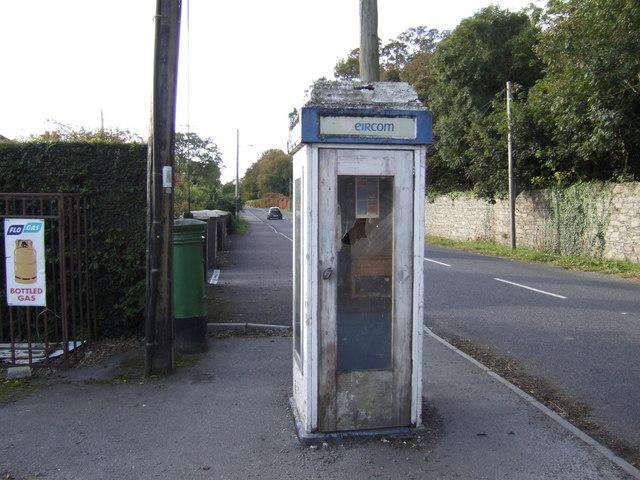 Vandalised call box